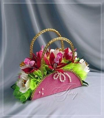 Фото корзинка для цветов своими руками