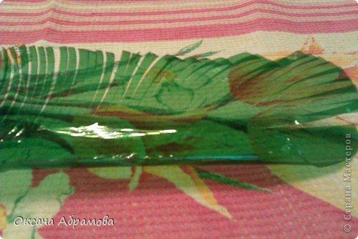 Как сделать лист из пластиковой для пальмы 497