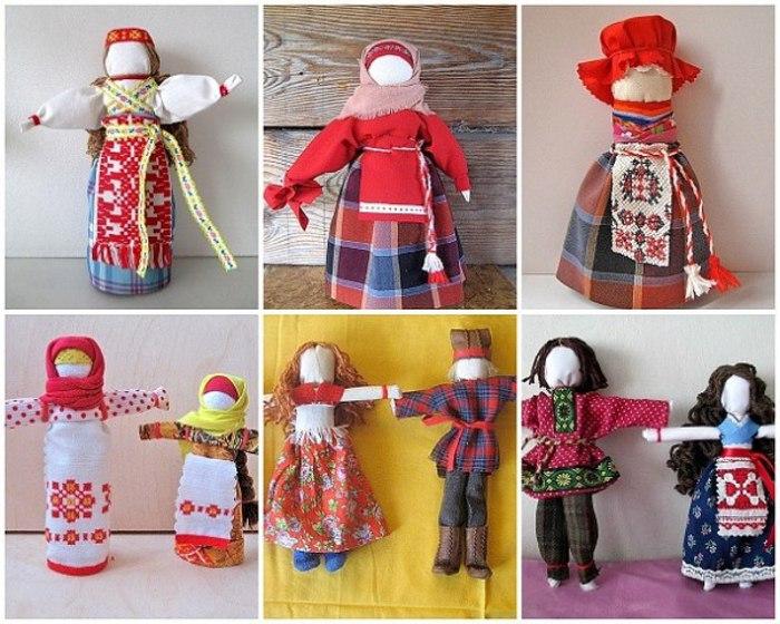 Куклы мотанки из ткани своими руками 34