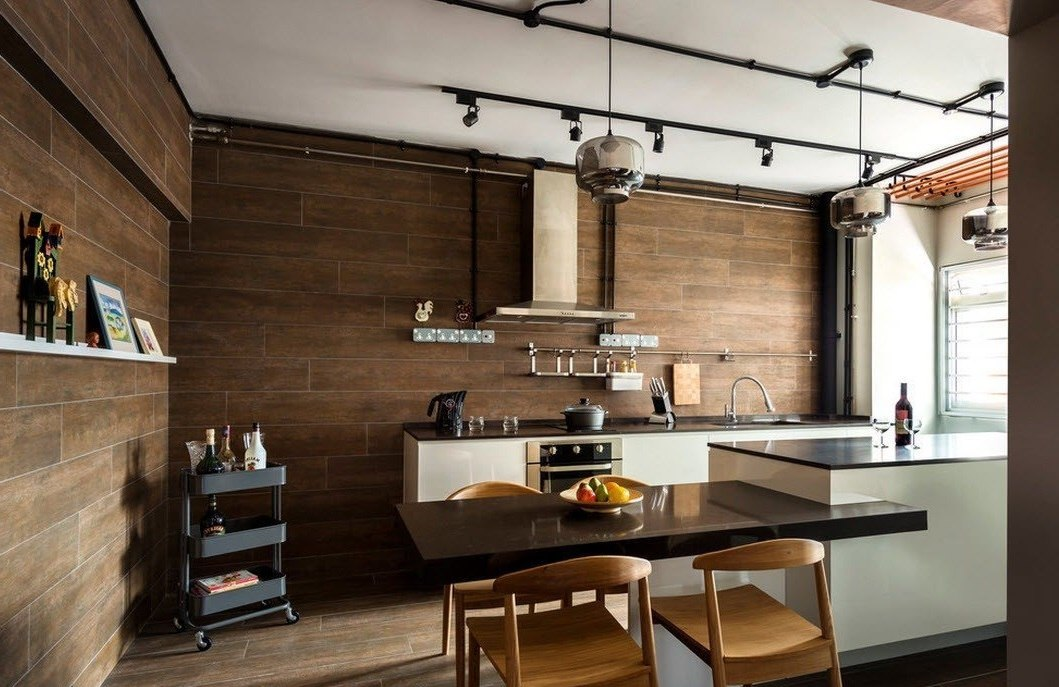 Дизайн кухни без подвесных шкафов специалист по дизайну и де.